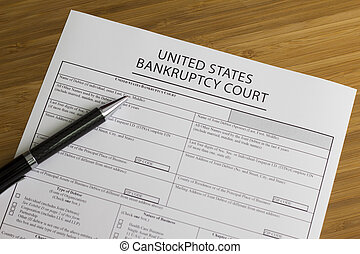 Bankruptcy Court - Someone fllling out Bankruptcy Court...