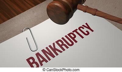 Bankruptcy legal concept shot clip