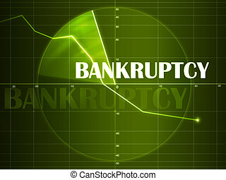 bankruptcy Radar - 2D artwork. Computer design.
