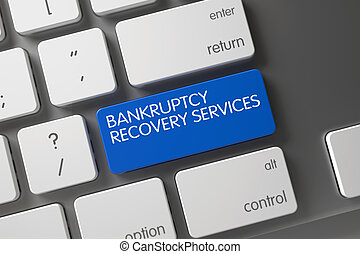 Bankruptcy Recovery Services Key. 3D Illustration.