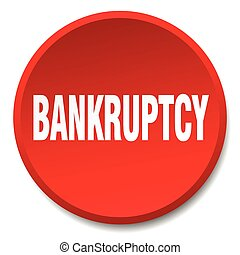 bankruptcy red round flat isolated push button