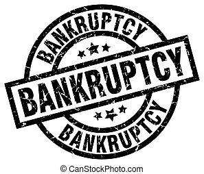 bankruptcy round grunge black stamp