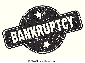 bankruptcy round grunge isolated stamp