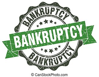 bankruptcy stamp. sign. seal