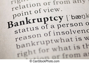 Bankruptcy - Fake Dictionary, Dictionary definition of the...