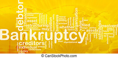 Bankruptcy word cloud - Word cloud concept illustration of...