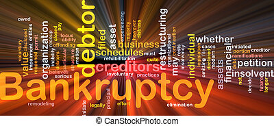 Bankruptcy word cloud glowing - Word cloud concept ...