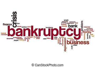 Bankruptcy word cloud concept
