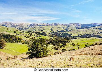Banks Peninsula in New Zealand