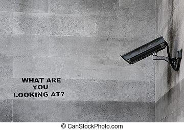 banksy, cctv, graffiti