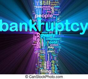bankuptcy, wordcloud, incandescent