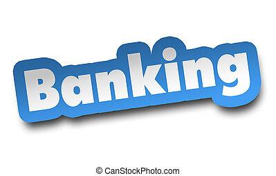 bankwesen, begriff, 3d, abbildung, freigestellt