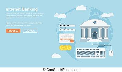 bankwesen, internet