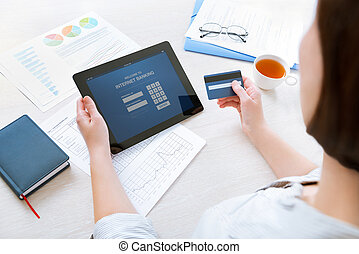 bankwesen online, internet