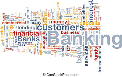 bankwezen, achtergrond, concept