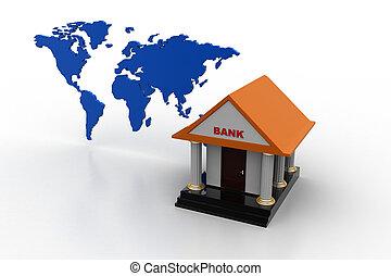 bankwezen, concept, gebied