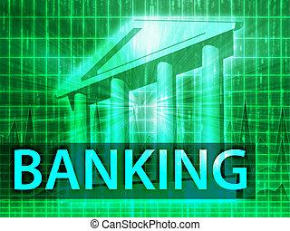 bankwezen, illustratie