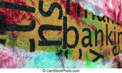 bankwezen, tekst, op, grunge, achtergrond