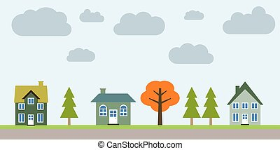 banlieue, résidentiel