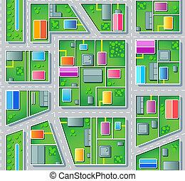 banlieue, seamless, plan