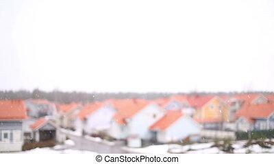 banlieues, chute neige
