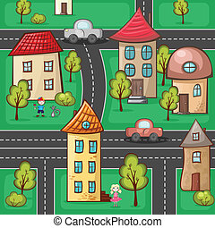 banlieues, maisons