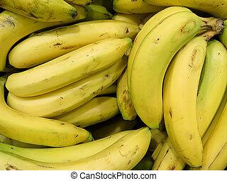 bannana close up, delicious tropical fruit