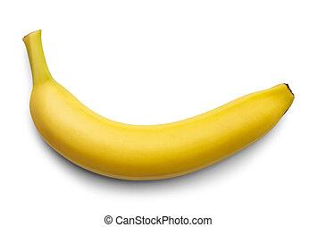 Bannana - Single Yellow Bannana Isolated on White...