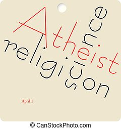 Banne Atheist Day - Banner to the date Atheist Day. April