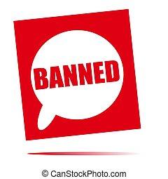 banned speech bubble icon
