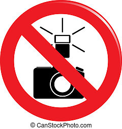 banned the use of flash sign
