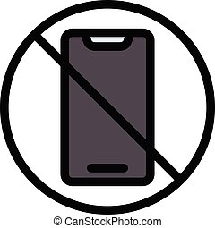 banned vector color line icon