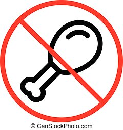 banned vector thin line icon