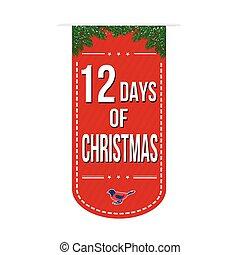 banner, 12, design, tage, weihnachten