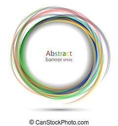 Banner abstract round vector transparent colorful