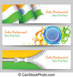 Banner and Header for India Celebration - illustration of...