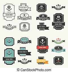 Banner And Ribbon Design Vector set