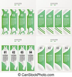 banner and template green color