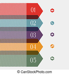 banner-arrow, kreativ, design, infographics