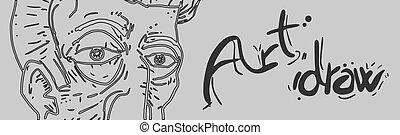 Banner art draw
