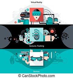 banner, augmented, virtuelle wirklichkeit