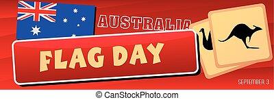 Banner Australia Flag Day