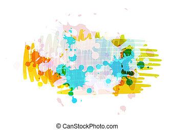 banner background design with ink splatter