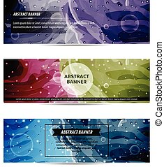 Banner Background Set Abstract