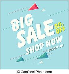 Banner Big Sale 50% Off Shop Now Vector Image