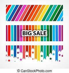 Banner big sale. Abstract vector backgrounds for banner.