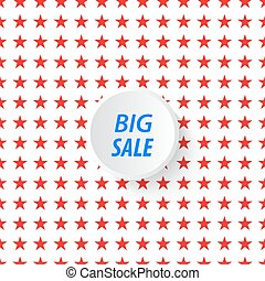 Banner big sale in the background of stars.