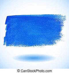 banner., blu, acquarello, vettore, illu