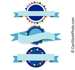 Banner blue party vector