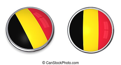 Banner Button Belgium - button style banner in 3D of Belgium